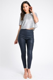 A Peach Silver Sequin Top - Product Mini Image