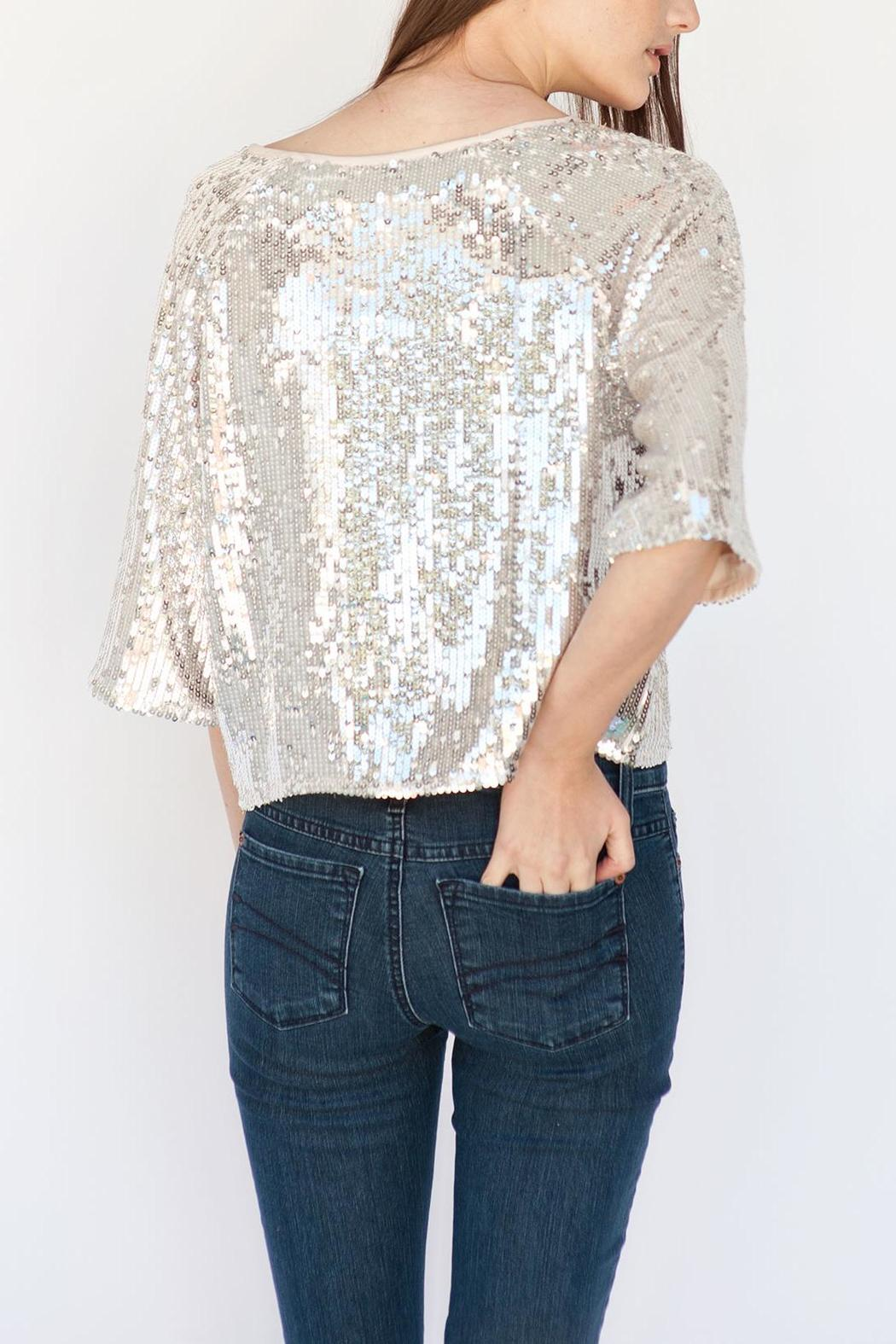 5211ca5443 Soaked in Luxury Silver Sequin Top from Calgary by Adorn Boutique ...