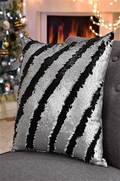 Shoptiques Product: Silver Sequined Pillow