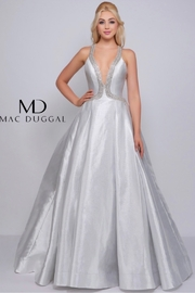 Mac Duggal SILVER SEXY BALL GOWN - Product Mini Image