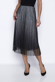 Frank Lyman Silver Shimmer Pleated Skirt - Product Mini Image
