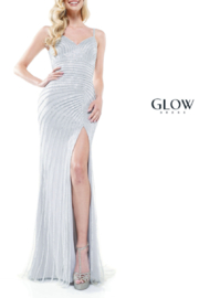 glow by colors Silver Sparkle Gown - Product Mini Image