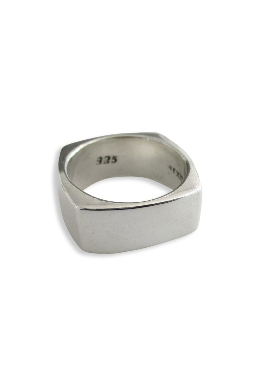 Malia Jewelry Silver Square Ring - Front Full Image