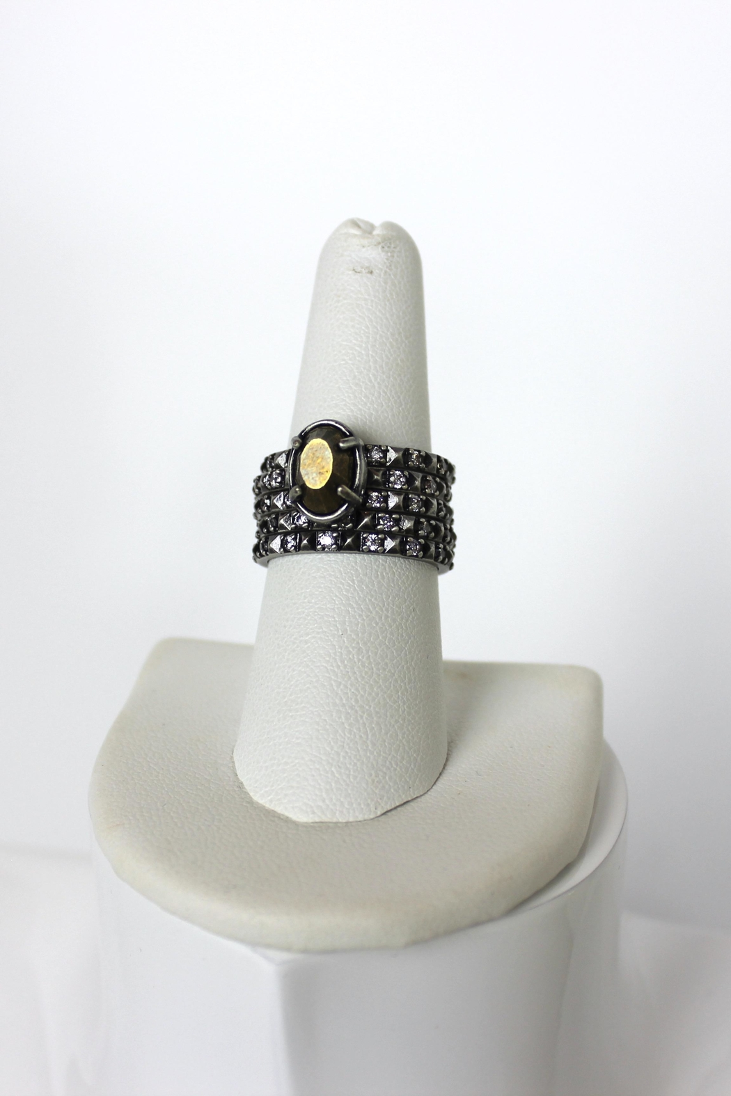 Kendra Scott Silver Stackable Rings - Front Full Image
