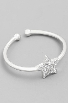 Shoptiques Product: Silver Star Ring