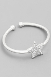 Runway & Rose Silver Star Ring - Front cropped