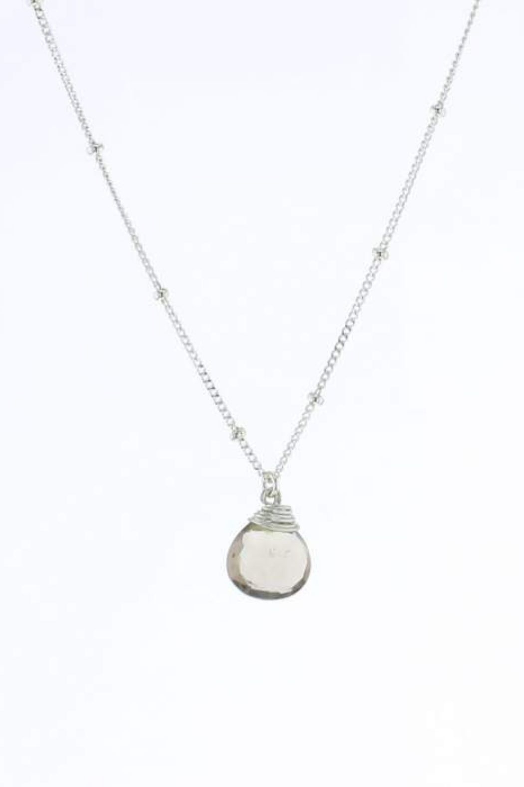 Lotus Jewelry Studio Silver Stone Trinket Necklace -16