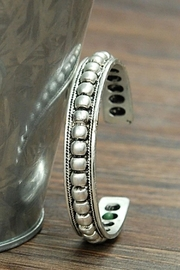 Wild Lilies Jewelry  Silver Studded Cuff - Front full body