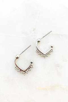 Wild Lilies Jewelry  Silver Studded Hoops - Alternate List Image