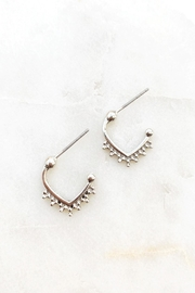 Wild Lilies Jewelry  Silver Studded Hoops - Product Mini Image
