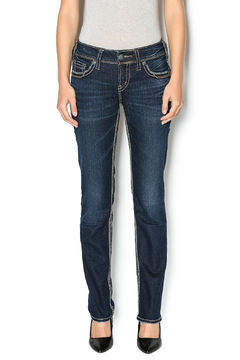 Silver Suki Straight Jeans - Product List Image