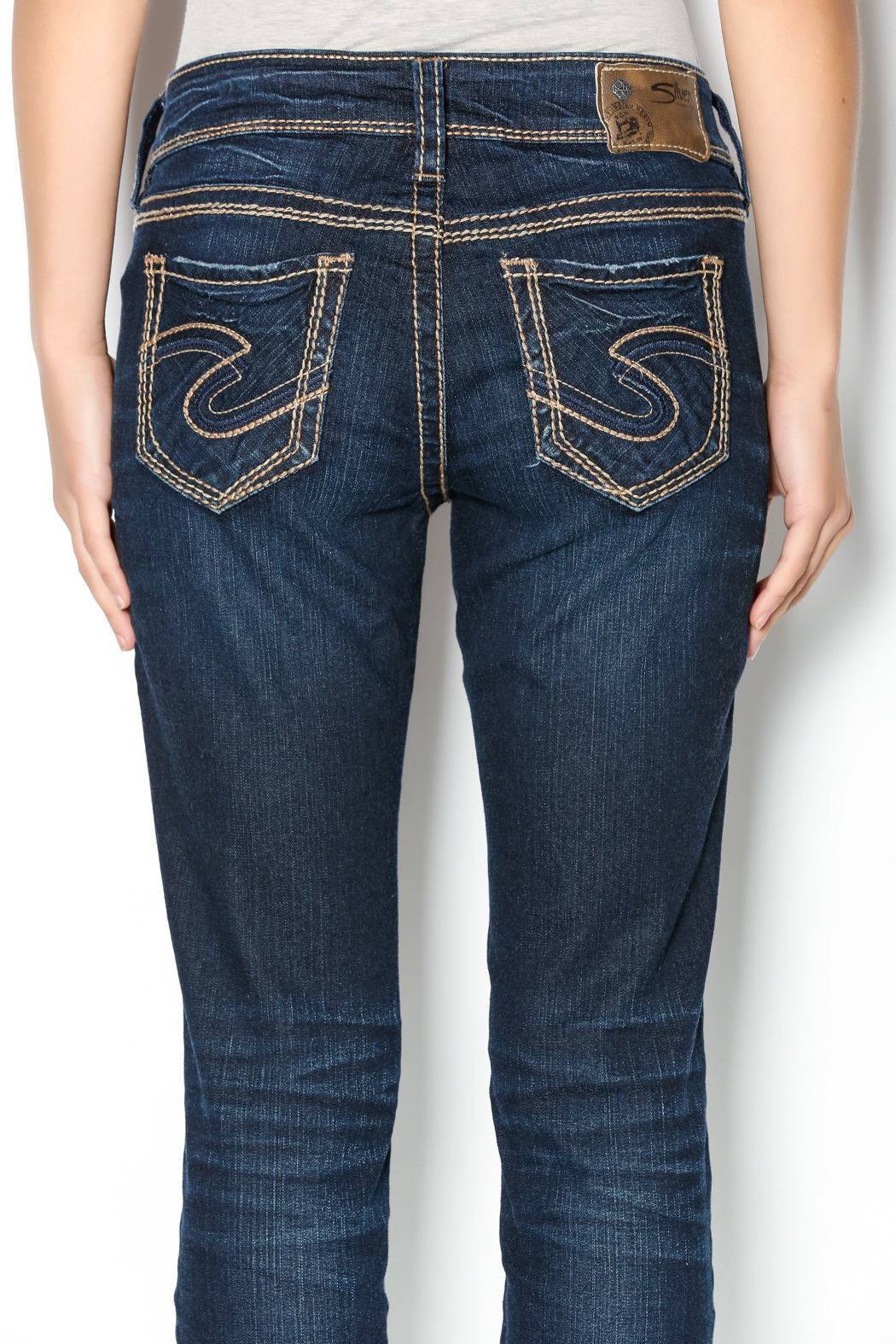 Silver Suki Straight Jeans from Boca Raton by Styles Boutique