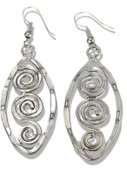 Anju Handcrafted Artisan Jewelry Silver Swirl Earring - Product Mini Image