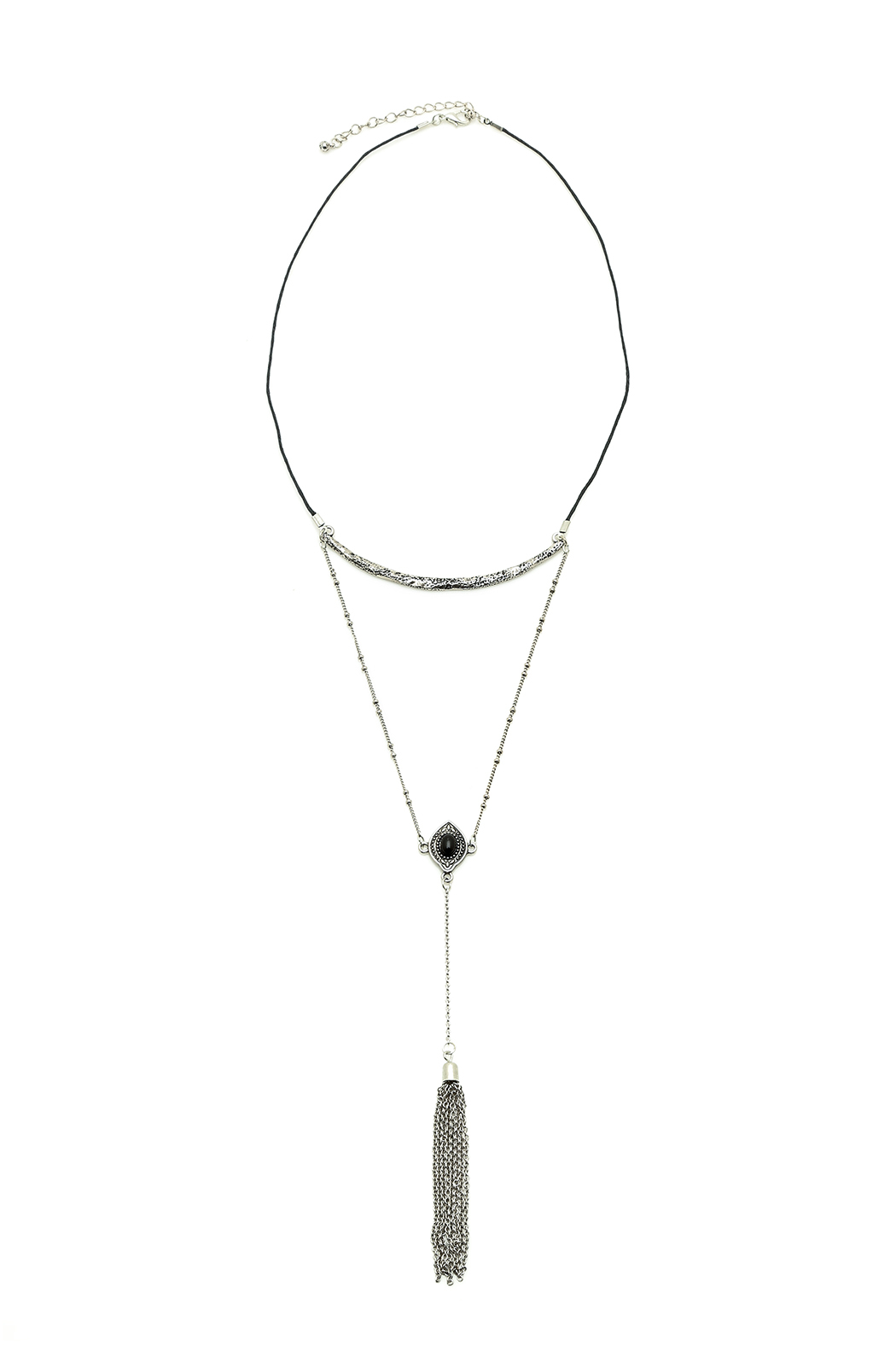 Silver Tassel Necklace - Main Image