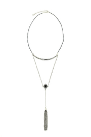 Silver Tassel Necklace - Front cropped
