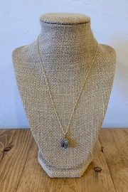 Stonesthrow Boutique Silver Teardrop Druzy Necklace - Product Mini Image