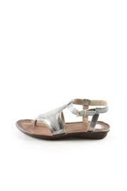 Khrio Silver Thong Sandal - Front cropped