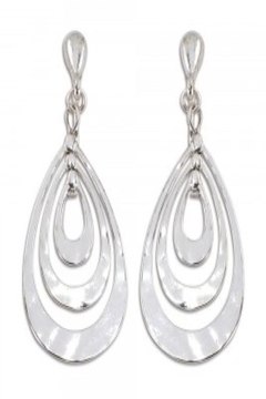Shoptiques Product: SILVER TONE CLIP-ON EARRINGS