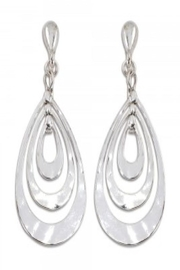 The Boutique Ooh Lala SILVER TONE CLIP-ON EARRINGS - Product Mini Image