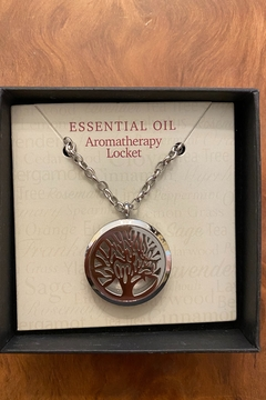 Benji Silver Tree of Life Essential Oil Aromatherapy Locket - Product List Image