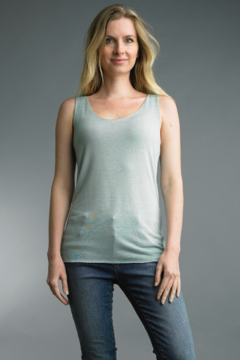 Tempo Paris  Silver Trimmed Cotton Tank - Product List Image
