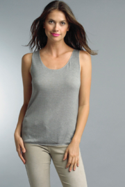 Tempo Paris Silver Trimmed Tank - Product Mini Image