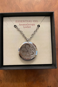 Benji Silver Triquetra Essential Oil Aromatherapy Locket Necklace - Product List Image