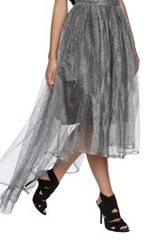 Gracia Silver Tulle Skirt - Product Mini Image