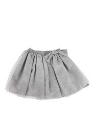Malvi & Co. Silver Tulle Skirt - Front cropped
