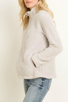 Shoptiques Product: Silver Zip Pullover