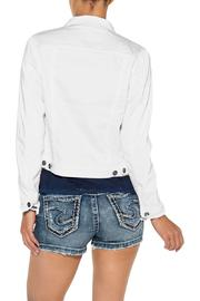 Silver Jeans Co. White Denim Jacket - Front full body