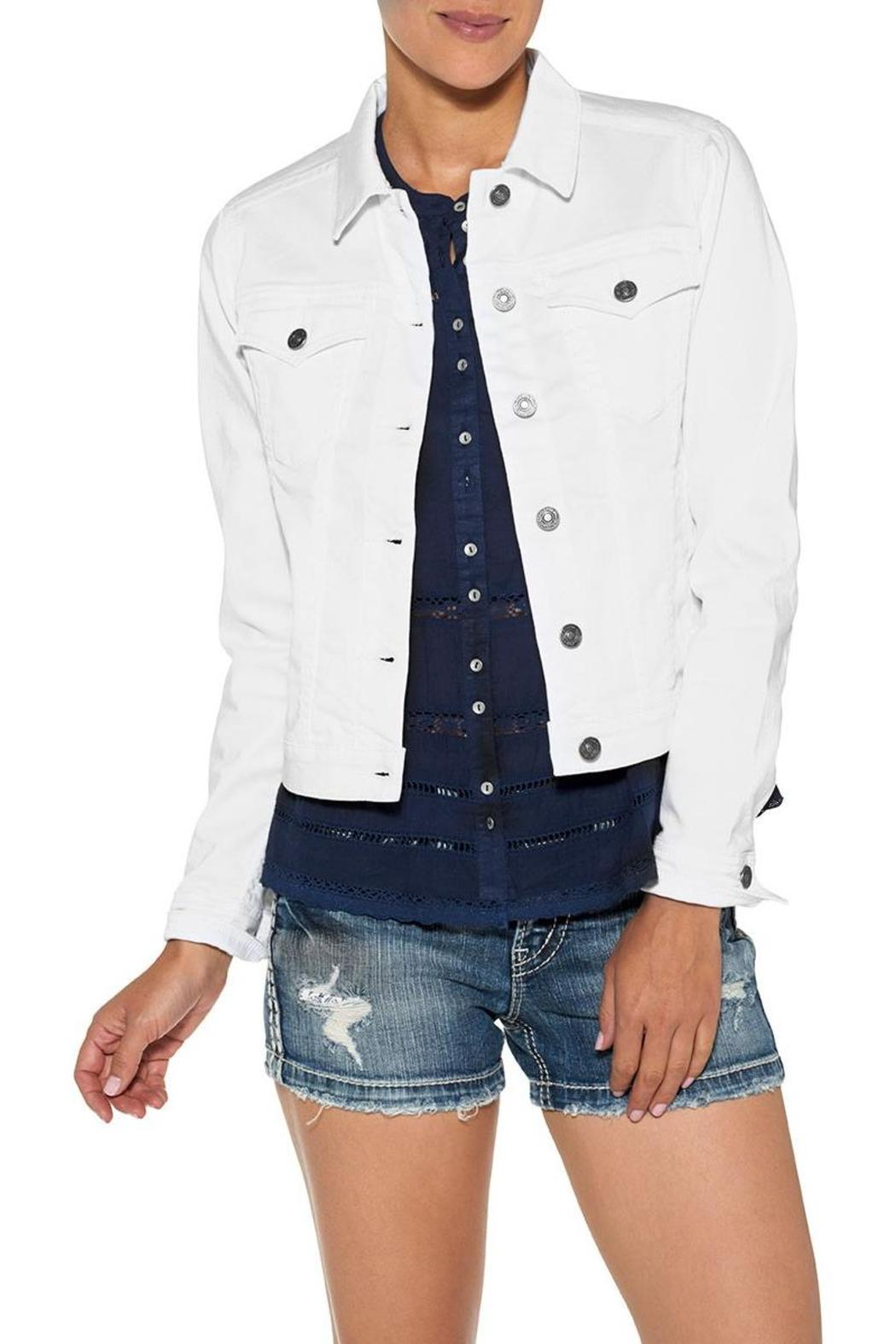 Silver Jeans Co. White Denim Jacket - Main Image