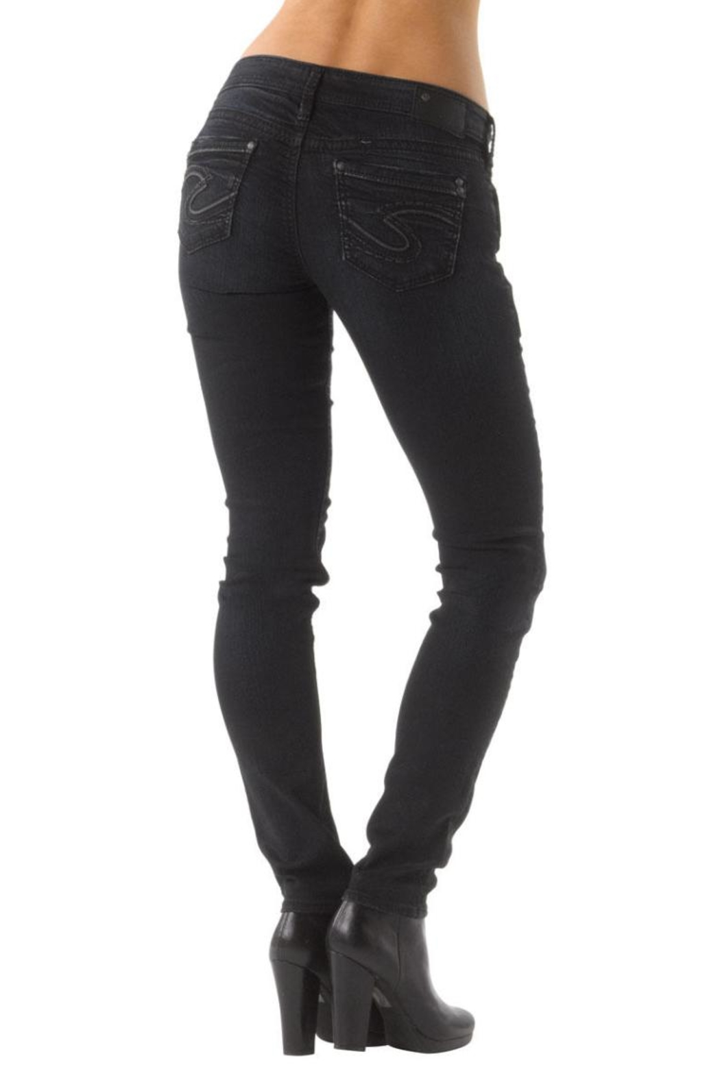 Silver Jeans Co. Aiko Dark-Wash Skinny - Front Full Image