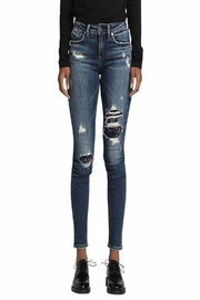 Silver Jeans Co. Avery-Skinny Embroidery-Distressed Jeans - Product Mini Image