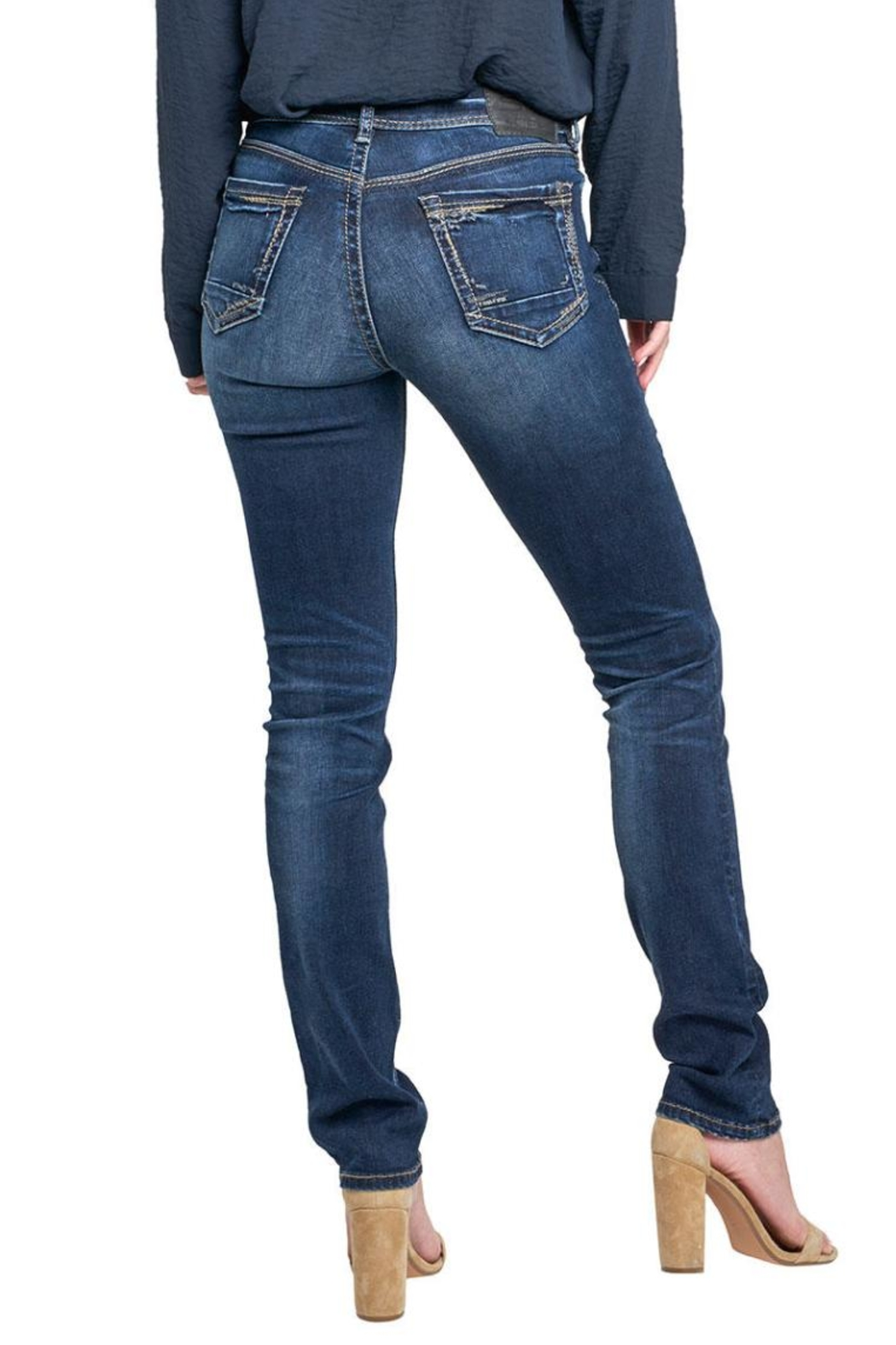 Silver Jeans Co. Avery Ultra-Curvy Straight - Front Full Image