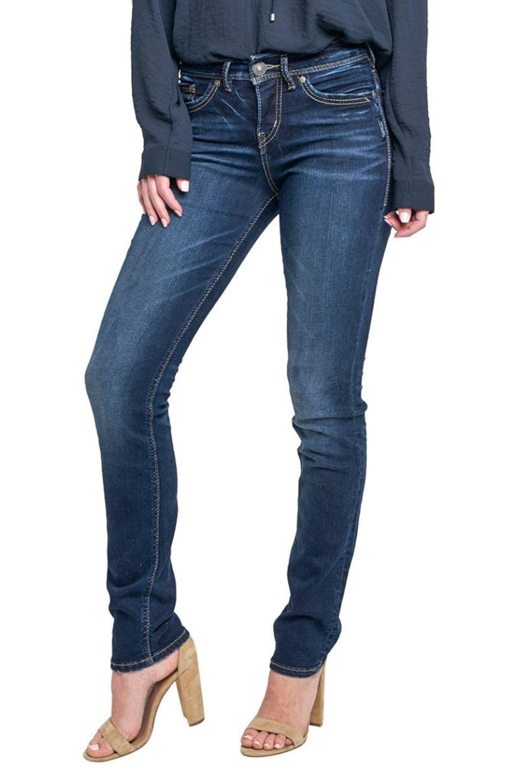 Silver Jeans Co. Avery Ultra-Curvy Straight - Main Image