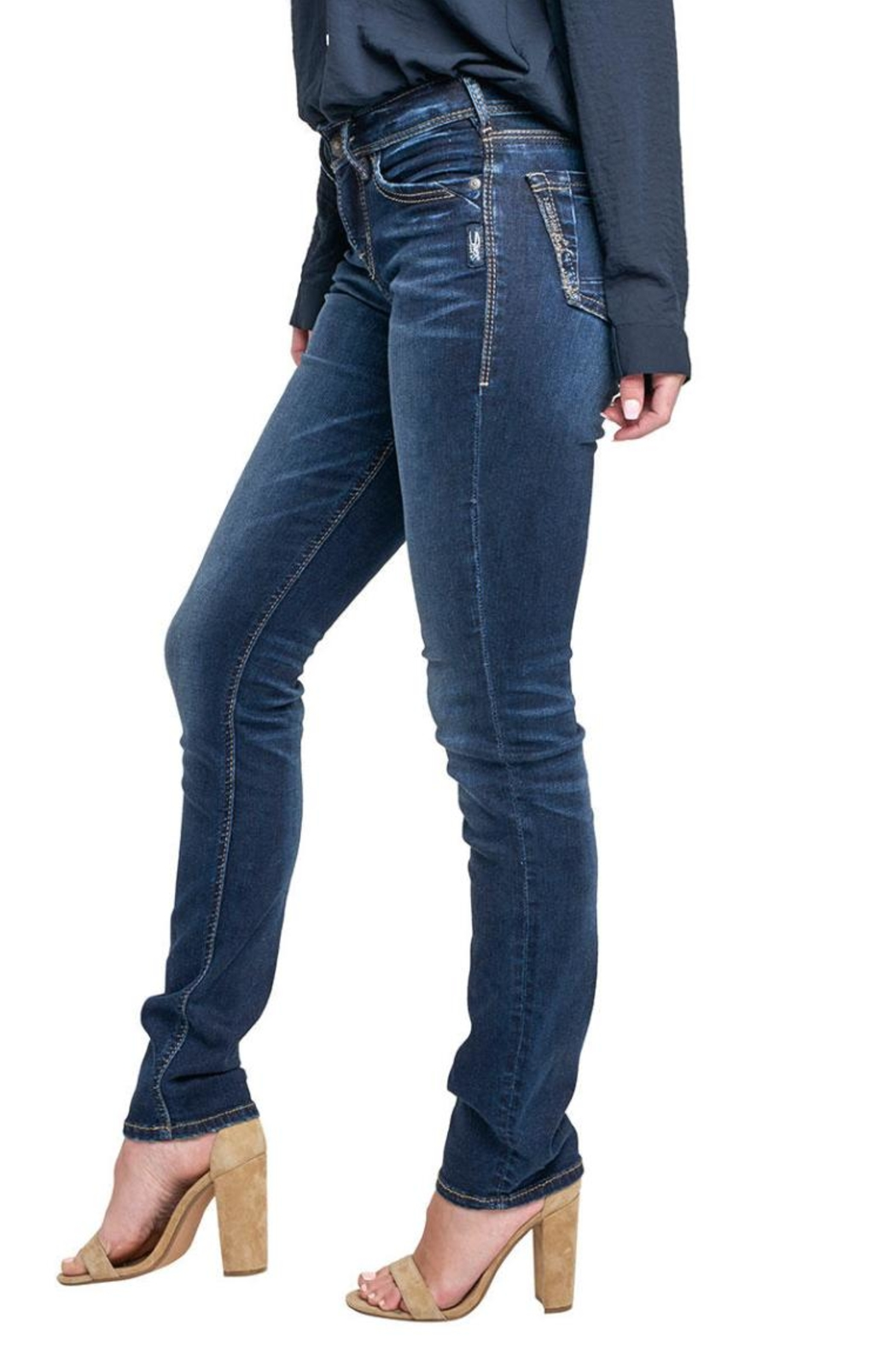 Silver Jeans Co. Avery Ultra-Curvy Straight - Side Cropped Image