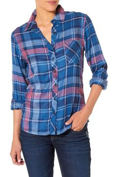 Silver Jeans Co. Blue Plaid Longsleeve - Product List Image
