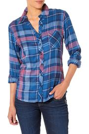 Silver Jeans Co. Blue Plaid Longsleeve - Product Mini Image