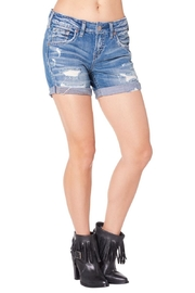 Silver Jeans Co. Destructed Boyfriend Shorts - Front cropped