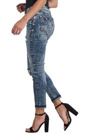 Silver Jeans Co. Distressed Crop Jeans - Side cropped
