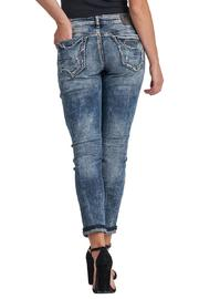 Silver Jeans Co. Distressed Crop Jeans - Front full body