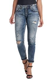 Silver Jeans Co. Distressed Crop Jeans - Product Mini Image