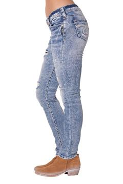 Silver Jeans Co. Distressed Skinny Jeans - Alternate List Image