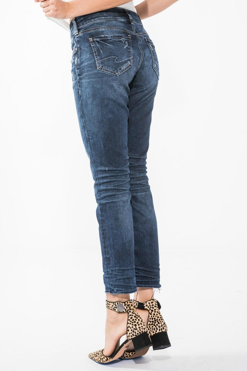 Silver Jeans Co. Elyse Ankle Jean - Front Full Image