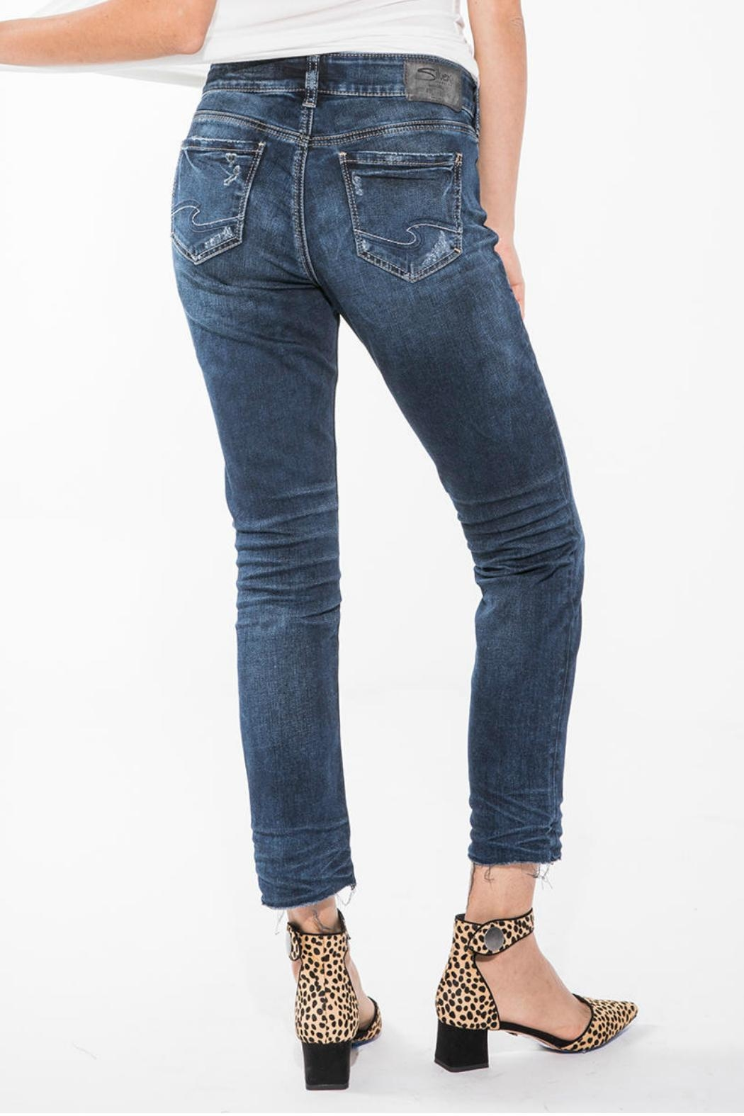 Silver Jeans Co. Elyse Ankle Jean - Side Cropped Image