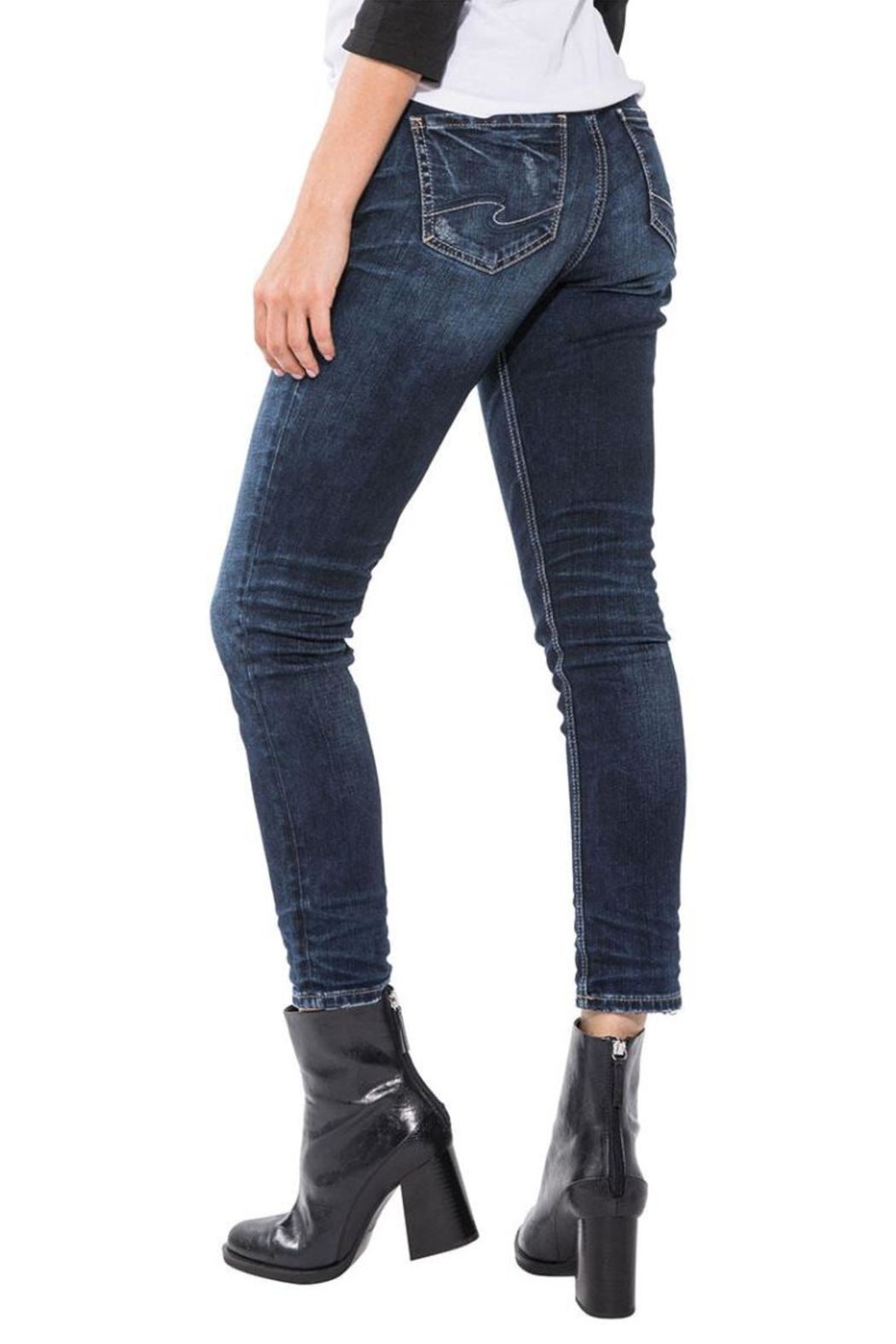 Silver Jeans Co. Elyse Ankle Slim - Front Full Image