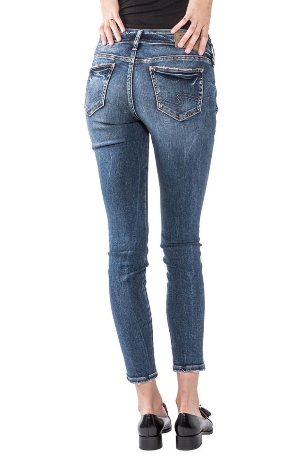Silver Jeans Co. Elyse Embroidery Skinny - Front Full Image