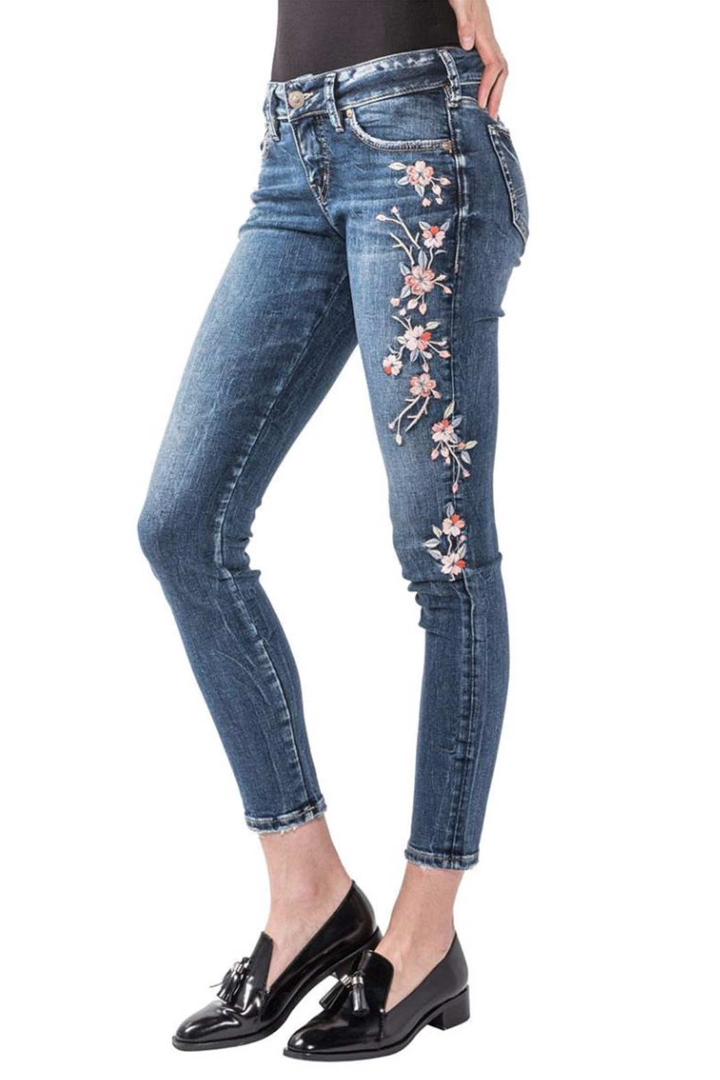 Silver Jeans Co. Elyse Embroidery Skinny - Main Image