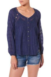 Silver Jeans Co. Embroidered Peasant Blouse - Product Mini Image